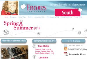 Encores Consignment website screenshot