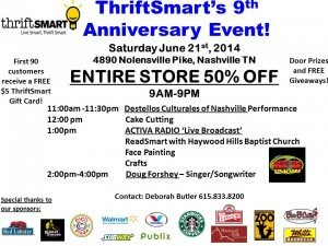 ThriftSmart's 9th ann flyer