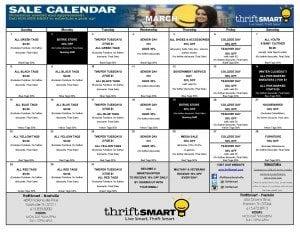 March 2015 Sales Calendar