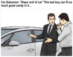car salesman costume