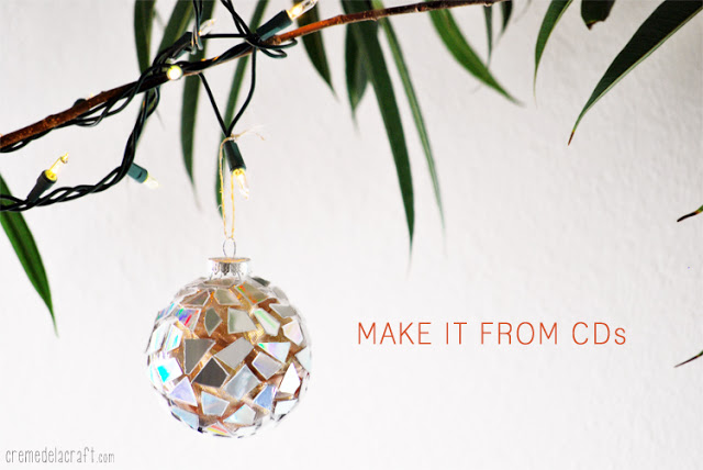 Make Christmas ornament from CD's