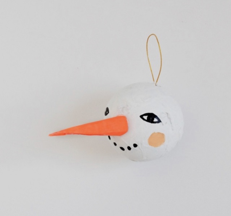 simple crafty snowman ornament