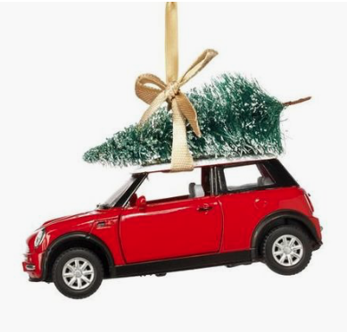 Mini Cooper Christmas ornament