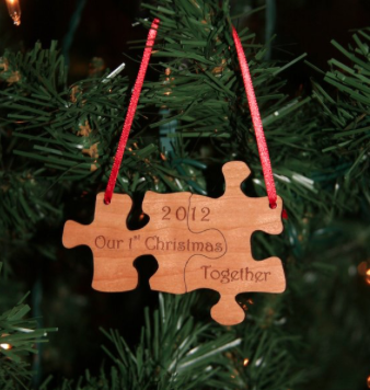 puzzle pieces Christmas ornament