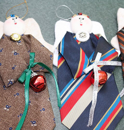 Christmas ornaments from neckties